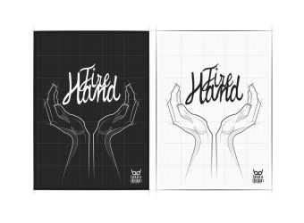 Fire Hand Logo-Black or White by boura2004