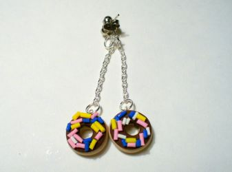 Donut Earrings by paperfaceparade