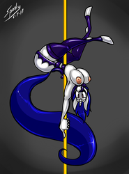 Commission - Peculiar Poledancing by grayscalerain
