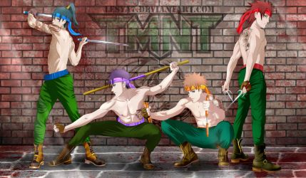TMNT anime style humans by Lesya7