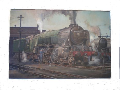 A1 pacific Kenilworth on shedI by Artistjeffries