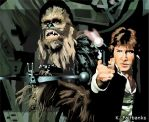 Chewbacca with Han Solo by kfairbanks
