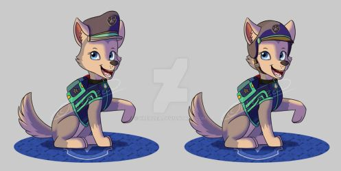 Paw Patrol Ultimate Rescue Police-Everest(Fanmade) by kreazea