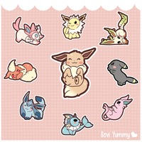 Chibi Eeveelutions by SeviYummy
