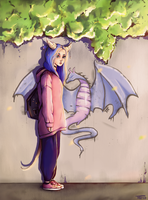 Dragon girl by trinemusen1