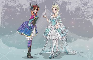 Frozen Characters Lolita Style by NoFlutter