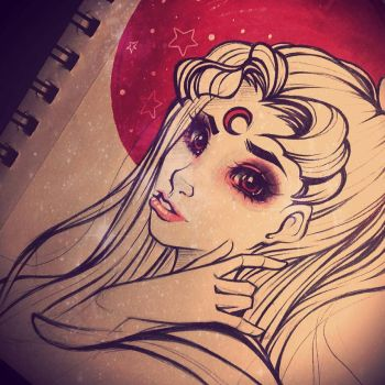 Usagi Red Moon Sailor Scout by whitelee