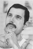 Freddie Mercury Graphite pencil drawing. by JonARTon