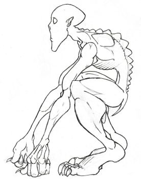 Fantasy Creature Concept,  Cave Being by Magnetic--Blue