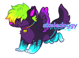 new neon redesign!!!!!!! [aprol foolps] by Skelefrog