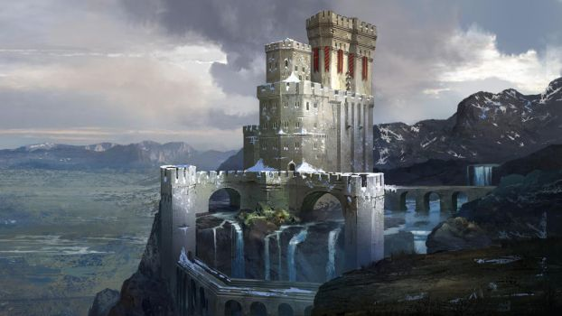 Snowy Stronghold by AndrewRyanArt