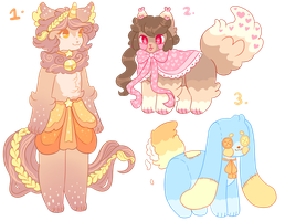 OTA Anthro and Feral Adopts closed by barafrog