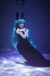 Miku Deep Sea Girl Cosplay by Bizarre-Deer