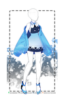 Cozy Blue Kitty outfit R218 (OPEN) by RumCandyAdopt