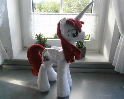 Handmade Fausticorn OC Plushie by HipsterOwlet