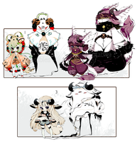 [CLOSED] ADOPT AUCTION 169 - Shadowmonsters by Piffi-sisters