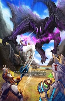 Monster Hunter: Pls don't fall off when mounted by Kamaniki