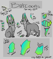 Batcoon Species Sheet (Open Species, Read First!!) by MonsterRage840