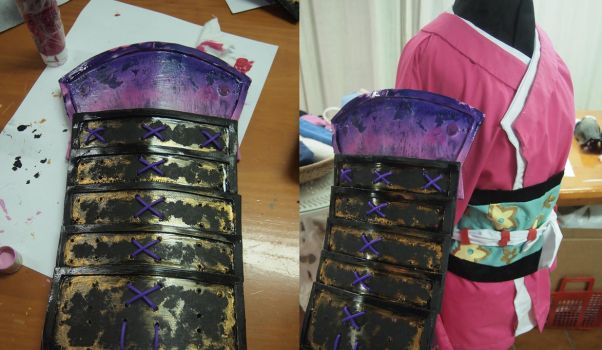 Armor Momohime 01 by LarbillaCosplay