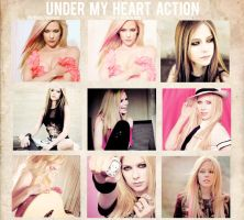 Under my heart action by delicatepetals