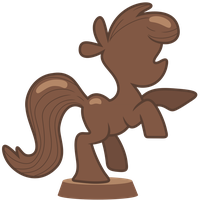 Chocolate Pony Statue by Pikamander2