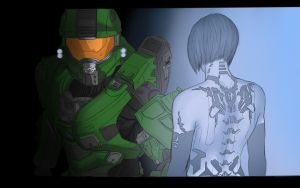 Master Chief and Cortana by Hydro1221