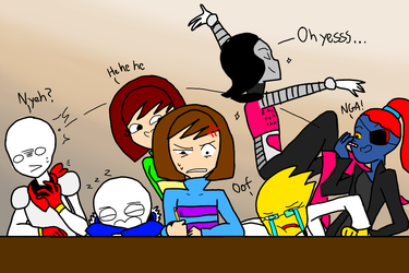 Undertale but everyone is in the same room by ArtisticDreams20