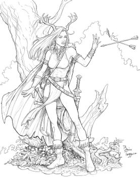 Woodland Mage by staino