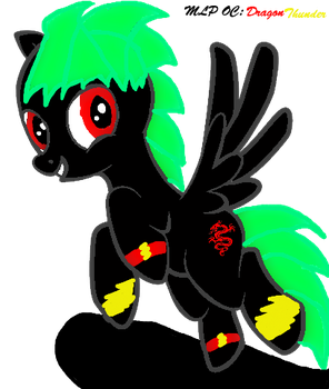 MLP OC: Dragon Thunder by Evil-Black-Sparx-77