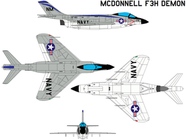 McDonnell F3H Demon by bagera3005