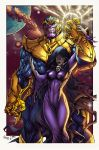 Thanos And Mistress Death By Pant Inked XGX by FedericoSiocJr