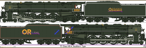 Oceanic Railways Class E 4-8-4 by Lapeer