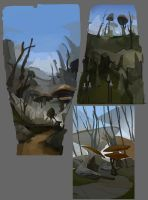 Morrowind scenery sketches by Shagan-fury