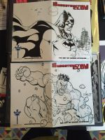 Sketch Covers: Batman and Hulk by ShawnAtkinson