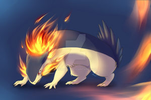 Typhlosion AKA fiery buttfloof by Bernouli