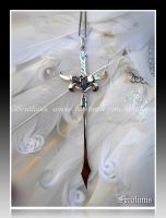 'Dragon Sword' handmade sterling silver pendant by seralune