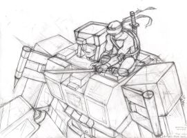 tf+tmnt crossover wip by somethingorother