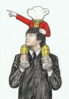 Paul McCartney with Rupert the bear by gagambo