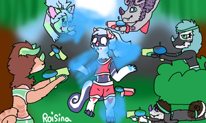 Chimereon Water Fight! by Roisina