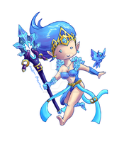 Chibi Frost Janna by MoonMouseStudio