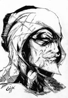 Green Arrow face by GleBik