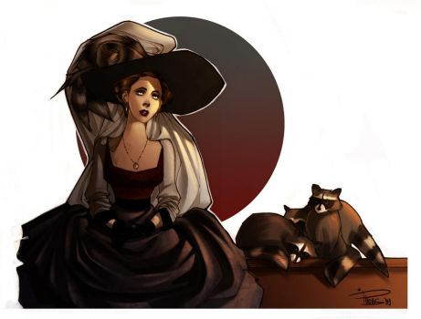 Lady Raccoon by Phobs