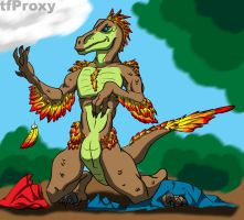 Feathered Raptor by tfproxy