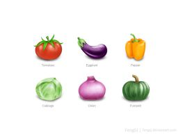 Vegetables ICON by fengsj