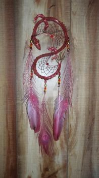 Red Dragon Dream Catcher by KenshinKyo