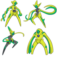 Shiny Deoxys Global Link Art by TrainerParshen