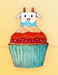 Milky Cupcake by CafeTaffy