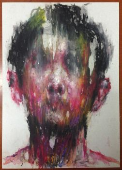 (14D18) untitled  pastel on paper 25.3 x 18.3 cm   by ShinKwangHo