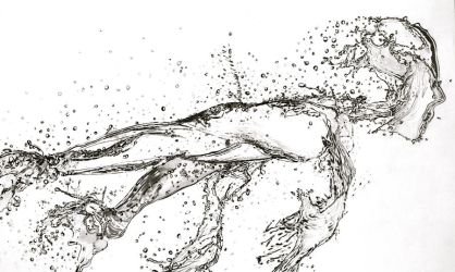 Running Water (Pencil) by Paul-Shanghai