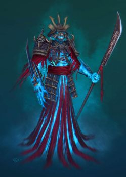 Samurai ghost by saintbug